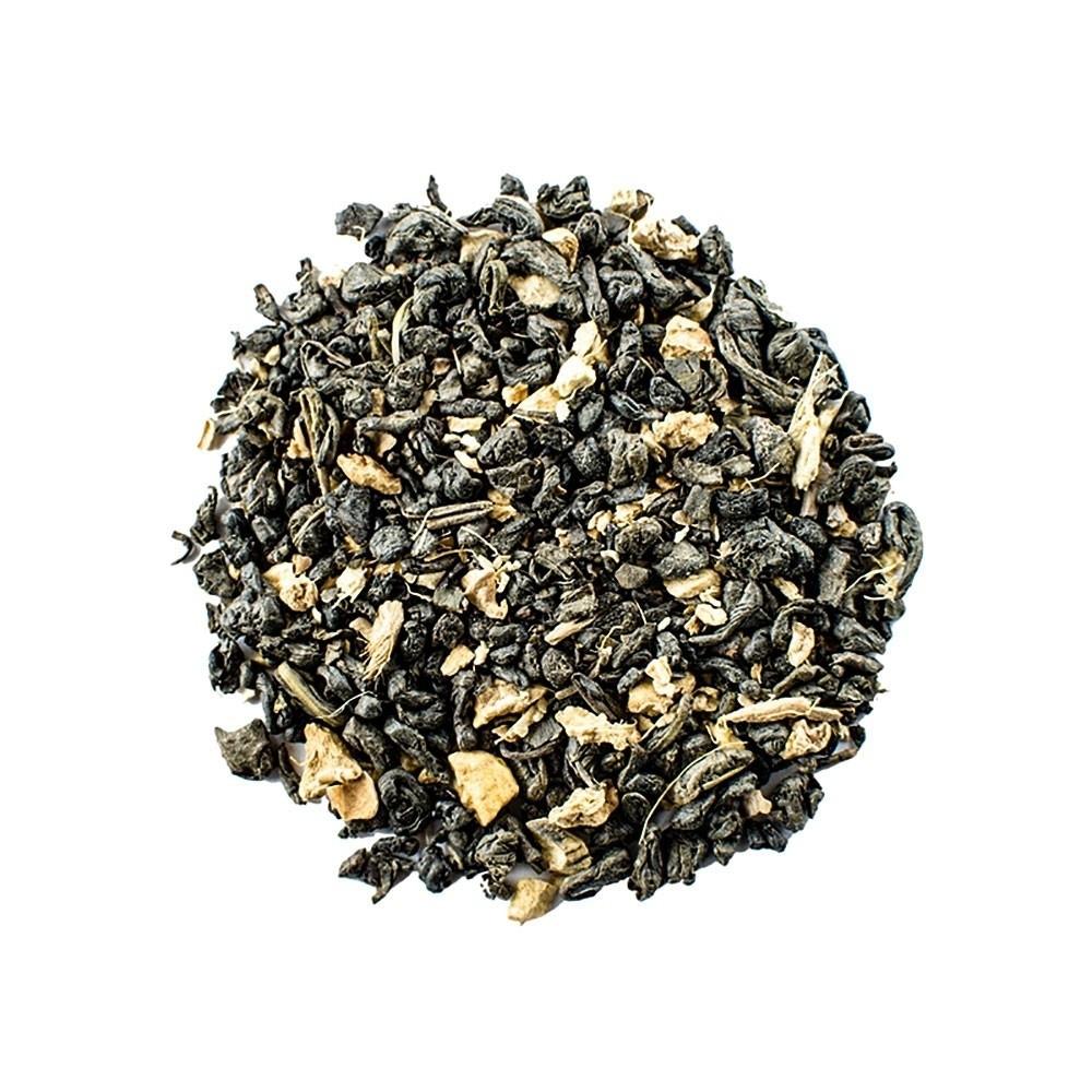 Tè Verde Gunpowder e Zenzero