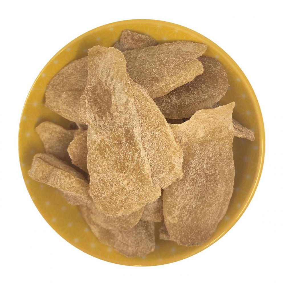 Zenzero disidratato con cannella senza zucchero cristallizzato con zucchero a velo