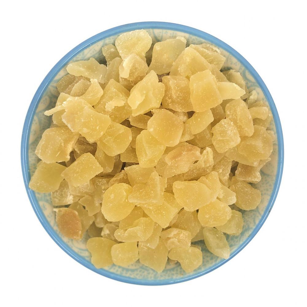 Zenzero disidratato senza zucchero cristallizzato a cubetti - con zucchero a velo