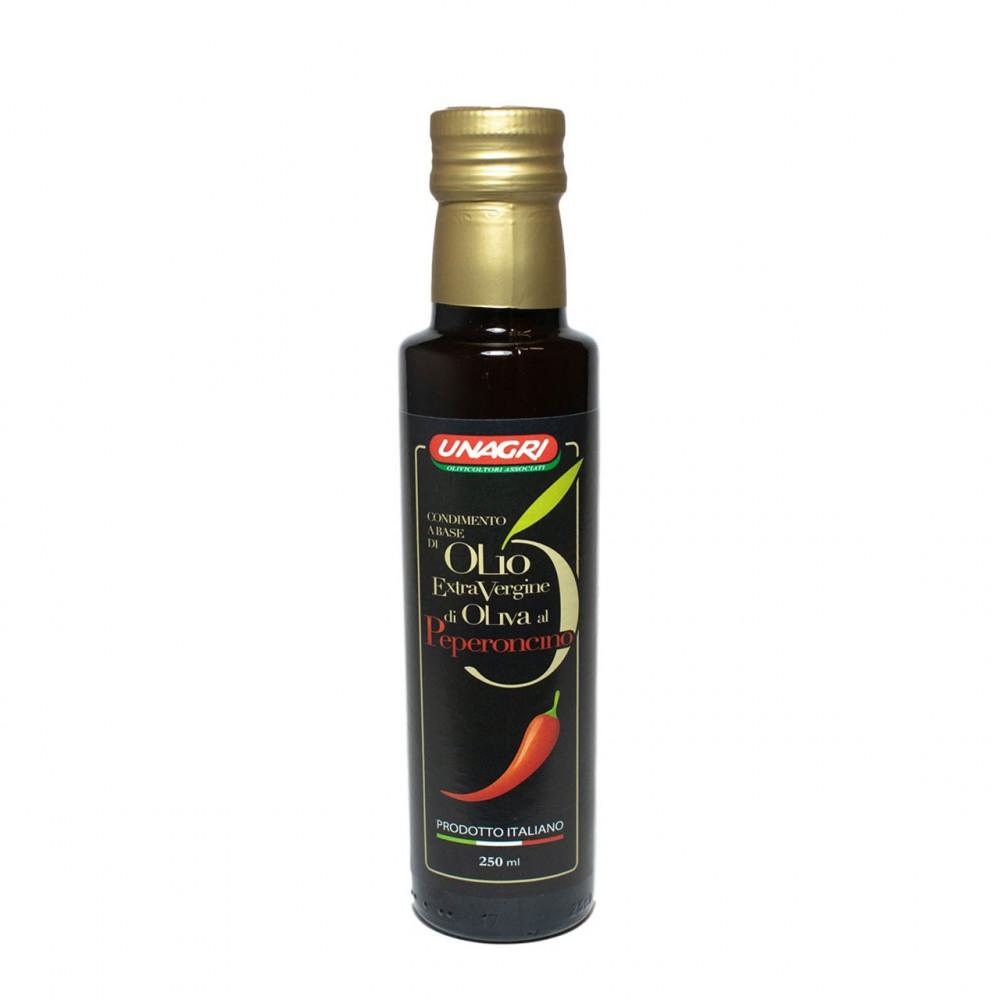 Olio Extra Vergine al Peperoncino 100% Prodotto italiano