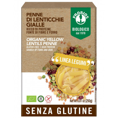 Pasta di Legumi - Penne lenticchie gialle s/Glutine 250g