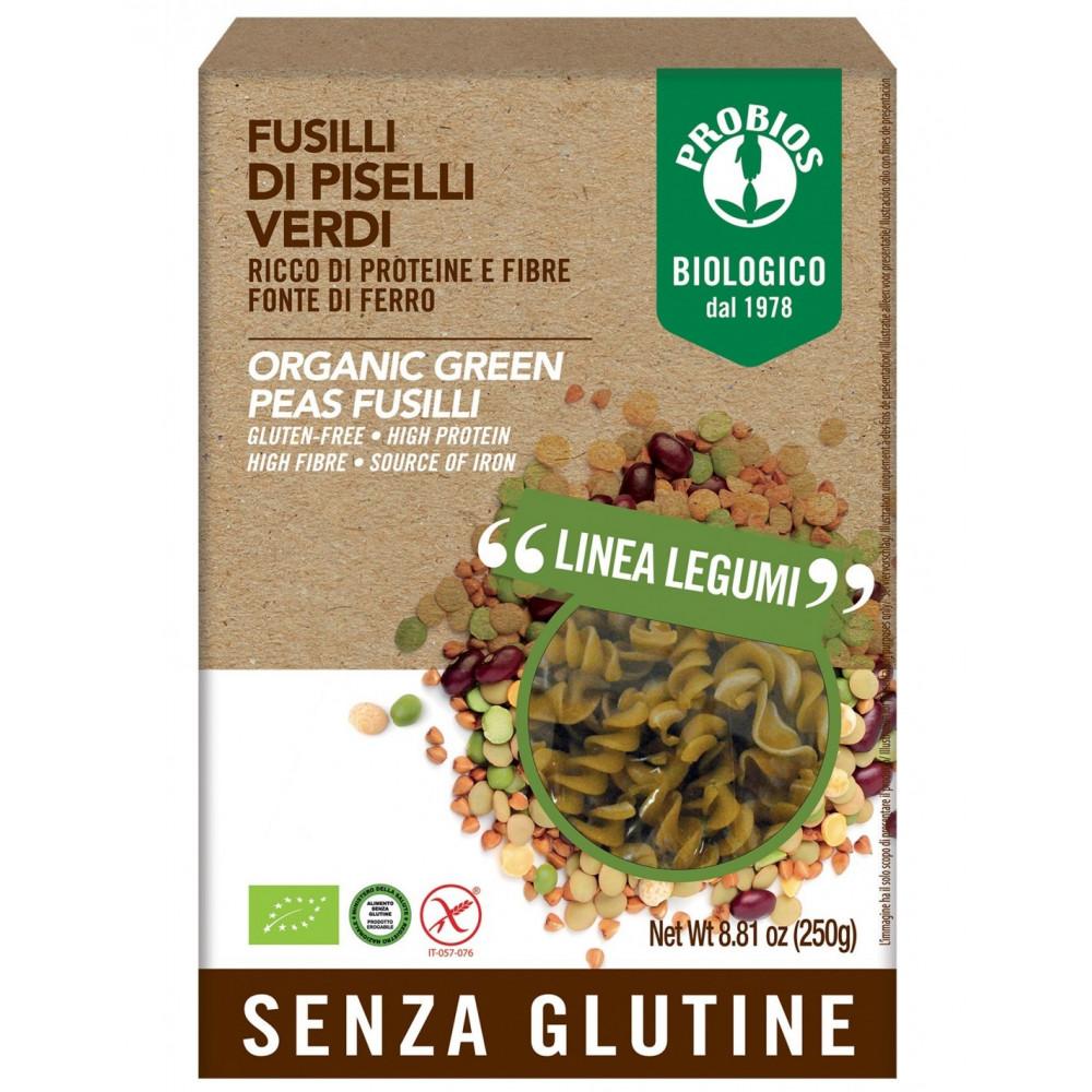 Pasta di Legumi - Fusilli 100% Piselli verdi s/Glutine 250g