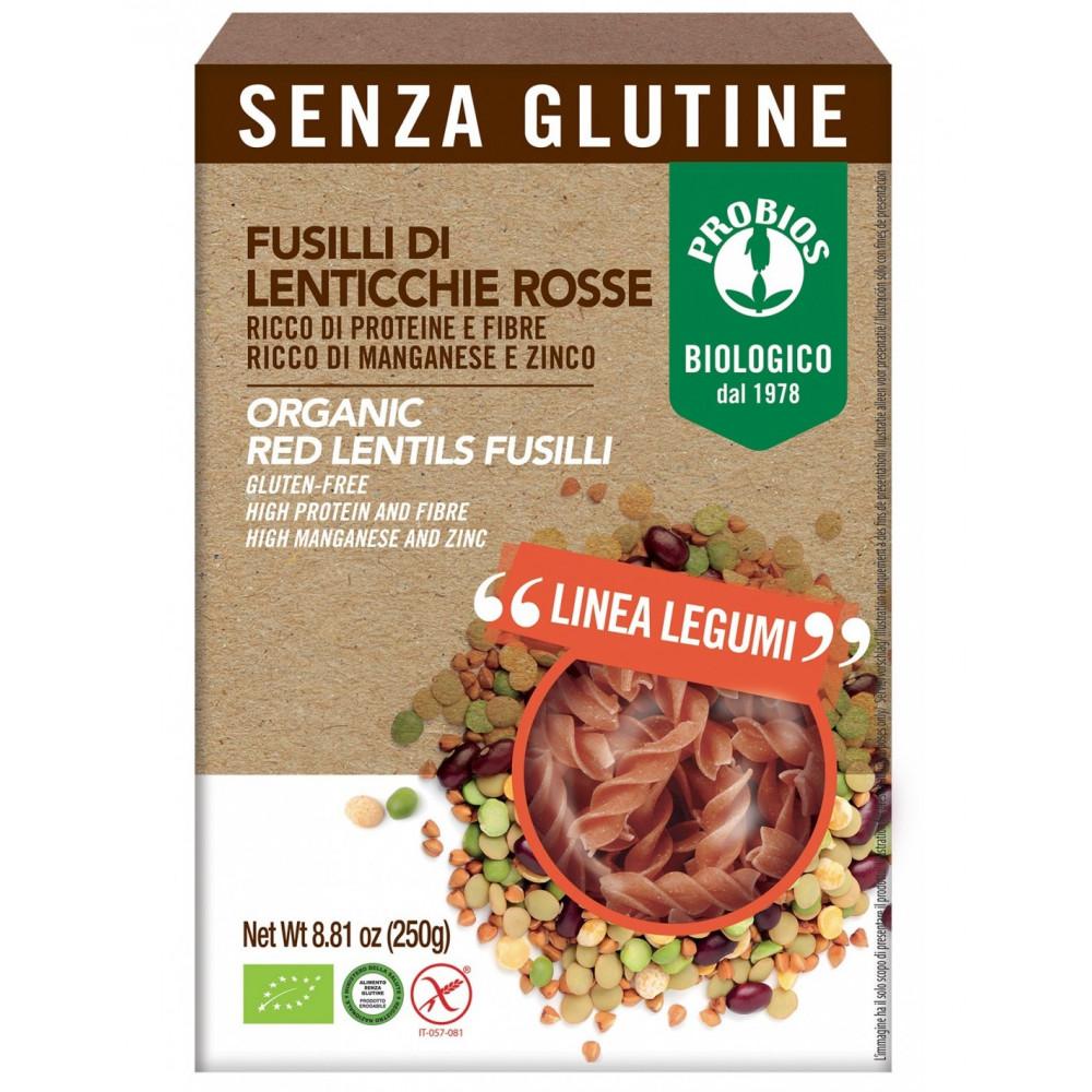 Pasta di Legumi - Fusilli 100% Lenticchie rosse s/Glutine 250g